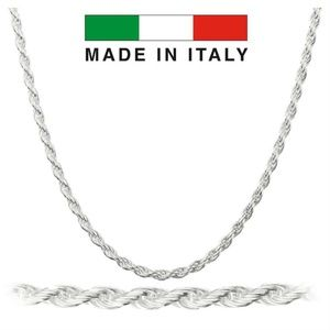 Harlembling 925 Sterling Silver 3mm Rope Chain